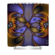 Mirror Butterfly Shower Curtain