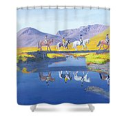 Mirror In The Cairngorms Shower Curtain