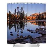 Mirror Lake Dawn Shower Curtain