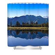 Mirror Lake Panorama Shower Curtain