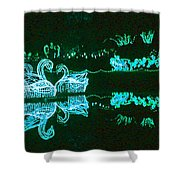 Mirror Lake Reflections In Teal Shower Curtain