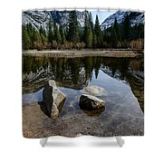 Mirror Lake Threesome 3 Yosemite Shower Curtain