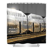 Mirror Of The Winter Sun Shower Curtain