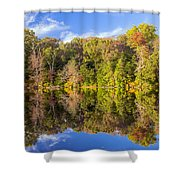 Mirror Reflections Of Fall Shower Curtain