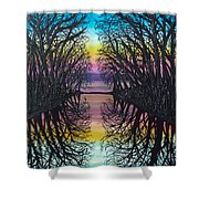 Mirror Water Shower Curtain