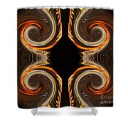 Mirrored Abstract Shower Curtain