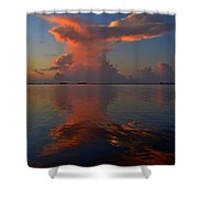 Mirrored Thunderstorm Over Navarre Beach At Sunrise On Sound Shower Curtain