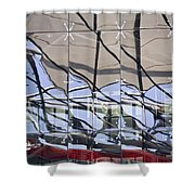 Mirroring On Vitreous Wall Shower Curtain