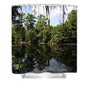 Mirrow Lake - Magnolia Gardens Shower Curtain