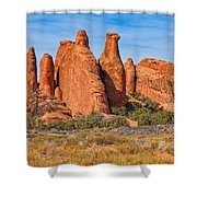 Misfit Rock Formations Shower Curtain