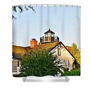 Mispillion Lighthouse - Lewes Delaware Shower Curtain