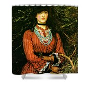 Miss Eveleen Tennant Shower Curtain