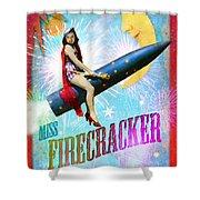 Miss Fire Cracker Shower Curtain