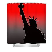 Miss Liberty Abstract Shower Curtain