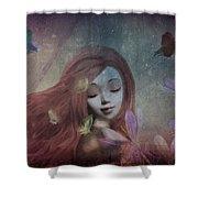 Miss Little Crocus Shower Curtain