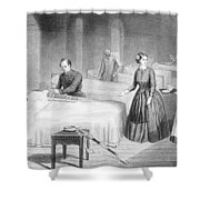 Miss Nightingale In The Hospital Shower Curtain