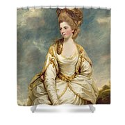 Miss Sarah Campbell Shower Curtain by Sir Joshua Reynolds