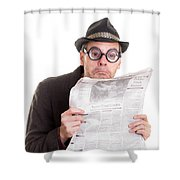 Miss You In The Funny Papers Shower Curtain