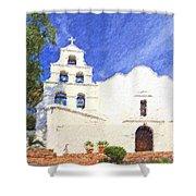Mission Basilica San Diego De Alcala Usa Shower Curtain
