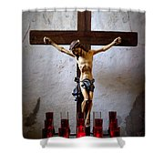 Mission Concepcion - Crucifixion Shower Curtain