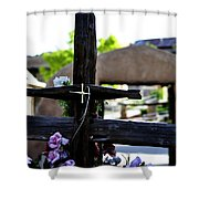 Mission Cross Shower Curtain