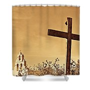 Mission In Sepia Shower Curtain