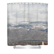 Mission In Winter Shower Curtain
