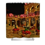 Mission Inn Christmas Chapel Courtyard Shower Curtain