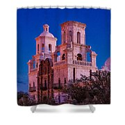 Mission Moon Glow Shower Curtain