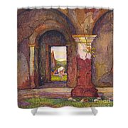 Mission Of San Juan Capistrano By Rowena Meeks Abdy 1887-1945  Shower Curtain