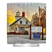 Mission Point Michigan Shower Curtain