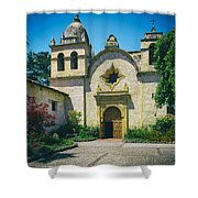 Mission San Carlos - Carmel California Shower Curtain