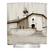 Mission San Luis Obispo Circa 1890 Shower Curtain