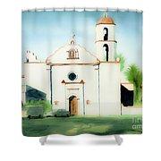 Mission San Luis Rey Dreamy Shower Curtain by Kip DeVore