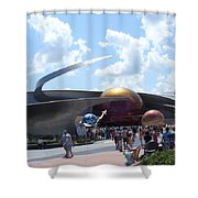 Mission Space Pavilion Shower Curtain