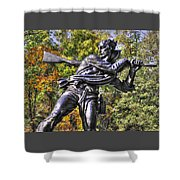 Mississippi At Gettysburg - Desperate Hand-to-hand Fighting No. 3 Shower Curtain