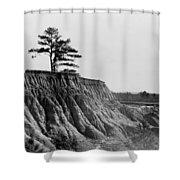 Mississippi Erosion, 1936 Shower Curtain
