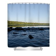 Mississippi Headwater And Lake Itasca Shower Curtain