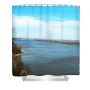 Mississippi Overlook Trail  Of Tears Shower Curtain