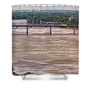 Mississippi River At I-72 Shower Curtain