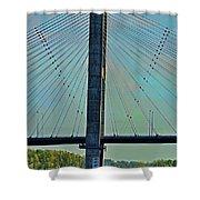 Mississippi River Bridge At Cape Girardeau Mo  Shower Curtain