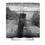 Mississippi River - Bw Shower Curtain