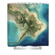 Mississippi River Delta, 2001 Shower Curtain