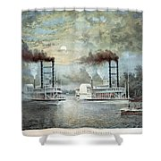 Mississippi River Race, C1859 Shower Curtain