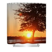 Mississippi Sunset 1 Shower Curtain