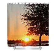 Mississippi Sunset 4 Shower Curtain