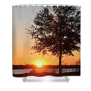 Mississippi Sunset 6 Shower Curtain