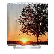 Mississippi Sunset 7 Shower Curtain