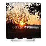 Mississippi Sunset 9 Shower Curtain