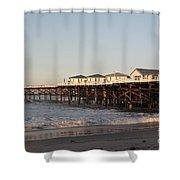 Misson Beach  Shower Curtain